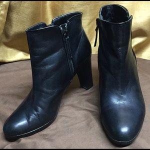 Lauren Ralph Lauren Black Leather Booties